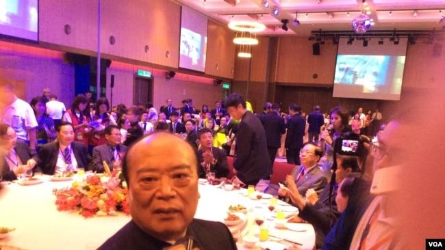 北京台資企业协会荣誉理事长谢坤宗在桃园(美国之音记者申华 拍摄)