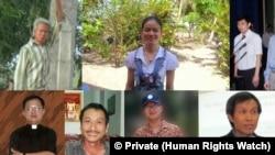 Một số tù nhân lương tâm bị giam giữ ở Việt Nam.