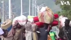 People Fleeing DRC Volcano