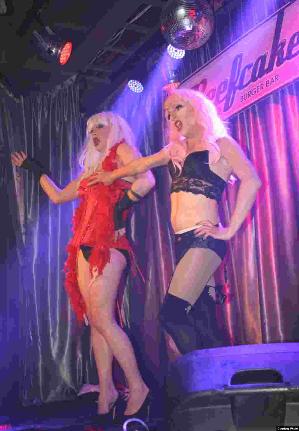 A new clientele of heterosexual women come to see Alley Hoop and Cadenza (Alain Fleischman) perform in a club the manager says used to be the center of the city's gay universe. (Photo by Darren Taylor)