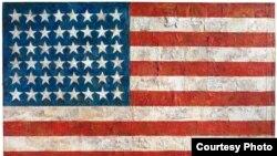 Джаспер Джонс. «Флаг». 1954 г.