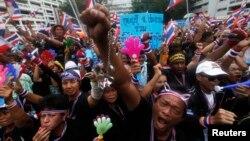 Manifestation anti gouvernement à Bangkok devant le ministère des Finances. 26 novembre 2013 (Reuters)