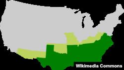 The Confederate States of America included Alabama, Florida, Georgia, Louisiana, Mississippi, South Carolina, Texas, Arkansas, North Carolina, Tennessee and Virginia.