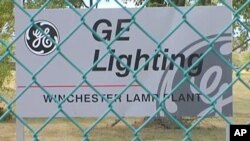 General Electric closed this lighting plant in Virginia because it produced incandescent light bulbs and the transition to producing compact florescent bulbs was deemed too expensive