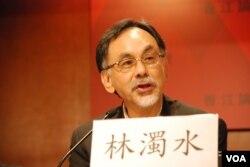 前民進黨立法委員林濁水認為,兩岸簽訂ECFA並未帶動台灣經濟活絡(美國之音湯惠芸)