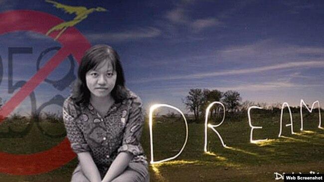 Nhà báo độc lập Phạm Đoan Trang. Ảnh chụp từ trang mạng Dân Làm Báo.