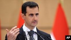 敘利亞總統阿薩德計劃於星期天(1月6號)發表面對全國的電視講話。(資料圖片)