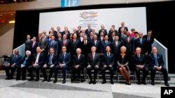 Foto durante el G20. Reuniones de Primavera del Grupo del Banco Mundial 2017 en Washington, el viernes 21 de abril de 2017.