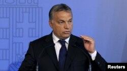 Thủ tướng Hungary Viktor Orban phát biểu tại Budapest, Hungary, 7/9/2015.