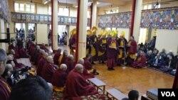 2015年印度达兰萨拉的流亡藏人庆祝藏历新年