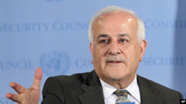 Palestinian UN envoy Riyad Mansour,  Sept. 26, 2011