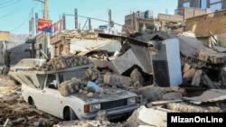 Kerusakan akibat gempa di desa Zarpol-e-Zahab, Iran. (Foto: dok).