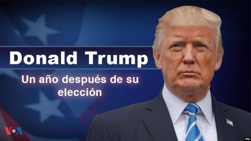 TT Trump, một năm sau khi lên nhậm chức. (VOA)
