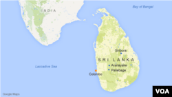 Bản đồ Sri Lanka.