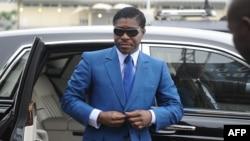 Teodorin Obiang, vice-président de Guinée équatoriale à Malabo,24 juin 2013.