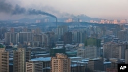 La ville Coréenne Pyongyang, Corée du Nord, 2011.