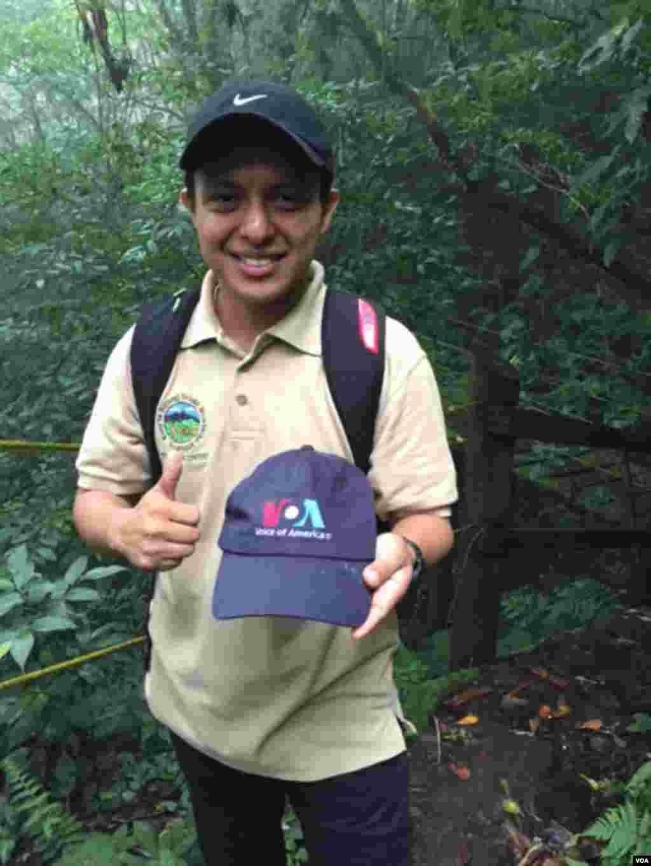VOA fan in Nicaragua