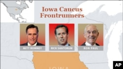 In Iowa, Republican Presidential Contenders Face First Test