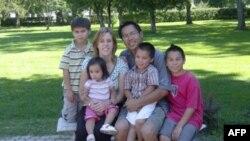 Thanh Campbell và gia đình