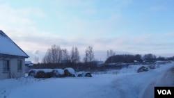 11月份的俄羅斯西伯利亞北部 (美國之音白樺拍攝)