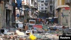 Kota Homs kembali diguncang serangan bom mobil, Rabu 1/10 (foto: dok).