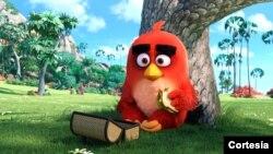 "Red, personaje principal de ""Angry Birds: La película"", se comió el almuerzo en la taquilla del fin de semana."