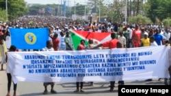 Une manifestation à Bujumbura, Burundi, 15 octobre 2016.