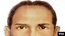 Sketsa wajah tersangka teroris asal Indonesia, Umar Patek yang ditangkap di Abbottabad, Pakistan 2 Maret 2011.