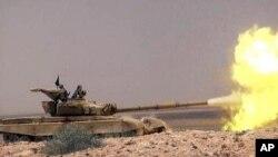 IŞİD'e ait bir web sitesinden alınan bu fotoğraf cihatçı örgütün tank gibi ağır silahlara da sahip olduğunu gösteriyor.