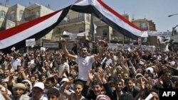 Anti vladini demonstranti u glavnom gradu Jemena; Sani