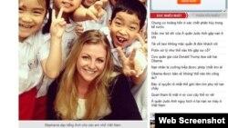 Hình minh họa - Nữ võ sĩ Judo người Scotland Stephanie Inglis bị tại nạn khi trên đường đến lớp dạy tiếng Anh cho các em nhỏ Việt Nam. Ảnh chụp màn hình trang web vietnamnet.vn
