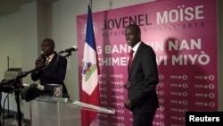 Prezidan ayisyen an, Jovenel Moise, pandan li te kandida alaprezidans. Foto 6 novanm 2015.