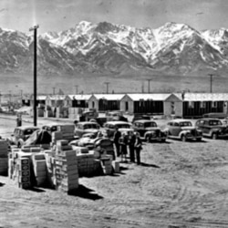 Manzanar internment camp in the desert near Independence, California