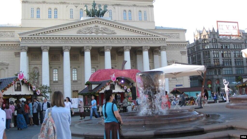 莫斯科大劇院。 普京和安倍5月26日將在這裡出席兩國國家年開幕式。