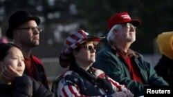 Donald Trampın tərəfdarları inaqural konsertdə. 19 yanvar, 2017.