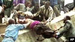 Последствия одного из терактов в Найроби, Кения. Архивное фото.