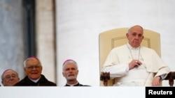 2014年11月12日罗马天主教宗方济各在梵蒂冈