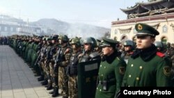 A Show of Force At Tibetan Prayer Festival