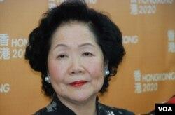 前香港政務司司長陳方安生認為,2017年特首普選的提名門檻不應較以往苛刻