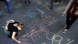 اعتراض صدها نفر از مردم آمريکا به نابرابری و بيکاری