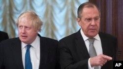 Борис Джонсон и министр иностранных дел Сергей Лавров. Москва, 22 декабря 2017.