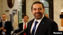 Lebanon's Prime Minister-designate Saad Hariri, at the presidential palace in Baabda, Lebanon, May 24, 2018.