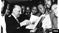 Leo Sarkisian traveled to every country in Africa throughout his career at VOA.