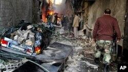 Последствия взрывов. Дамаск, 28 ноября 2012г.