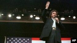 Penyanyi legendaris musik Country Johnny Cash dalam sebuah pertunjukan di Jackson, Oktober 1986.(Foto:dok)