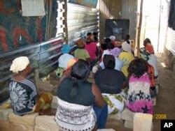 Sala de aulas no bairro de Sambizanga