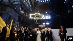 罗马天主教教宗方济各参观圣索菲亚大教堂(2014年11月29日)