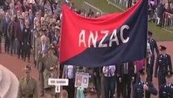 """澳大利亞、新西蘭紀念""""澳新軍團日""""一百週年"""