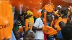 Les supporters ivoiriens célèbrent la qualification de leur pays pour la finale de la CAN 2015