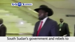VOA60 Africa - Regional leaders push South Sudan's government and rebels to seal a peace agreement - August 17, 2015